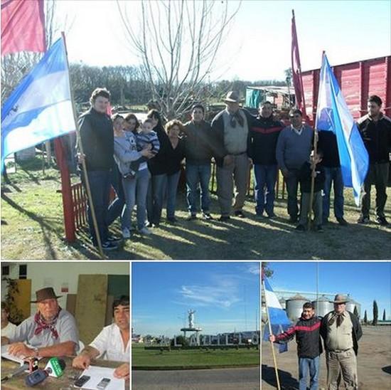 Dirigentes de BV junto a referentes nacionalistas de Saladillo