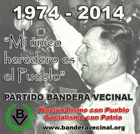General perón - Homenaje de Bandera Vecinal