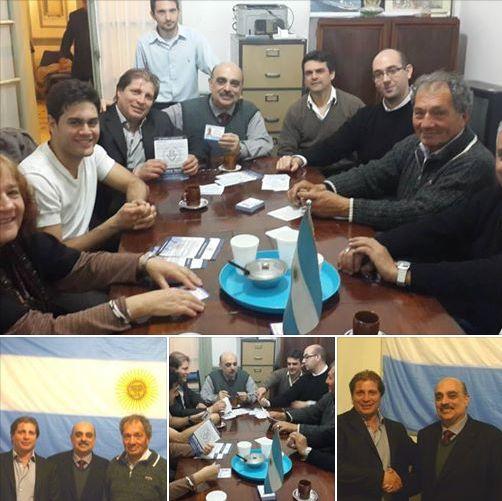 Biondini recibió a los dirigentes marplatenses Moraiz y Britos en Buenos Aires