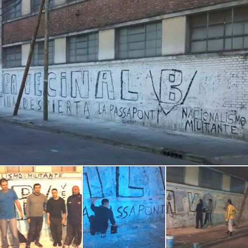 Ciudadela: Pintadas de Bandera Vecinal