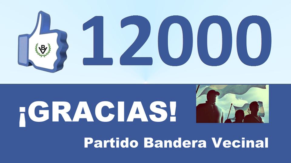 Bandera Vecinal superó los 12.000 seguidores en Facebook