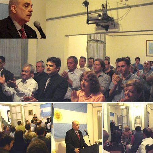 Biondini encabezó acto por el Día de la Lealtad en Casa Patria