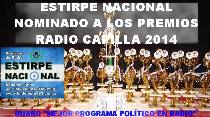 Estirpe Nacional, programa de radio de Bandera Vecinal, ha sido nominado para los premios