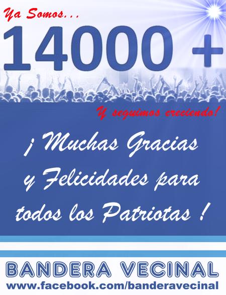 Bandera Vecinal superó los 14.000 seguidores en Facebook