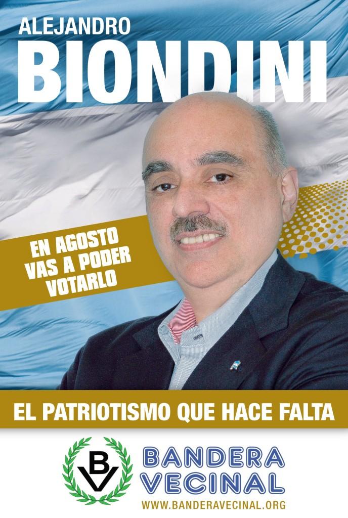 "Comenzó la campaña ""Biondini 2015"" de Bandera Vecinal"