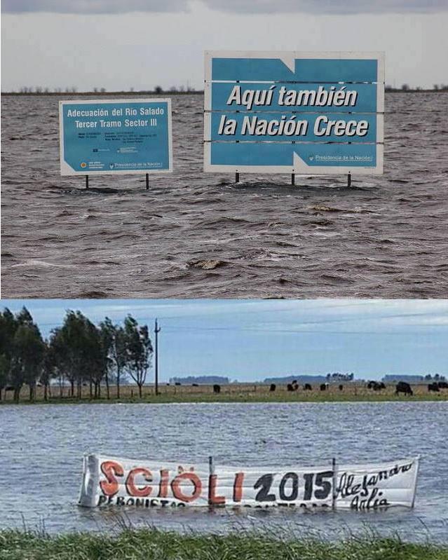Inundaciones 2015 y kirchnerismo