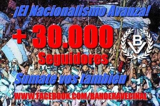 Bandera Vecinal superó los 30.000 seguidores en Facebook