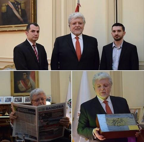 Encuentro del periódico Bandera con el Embajador de Perú en Argentina