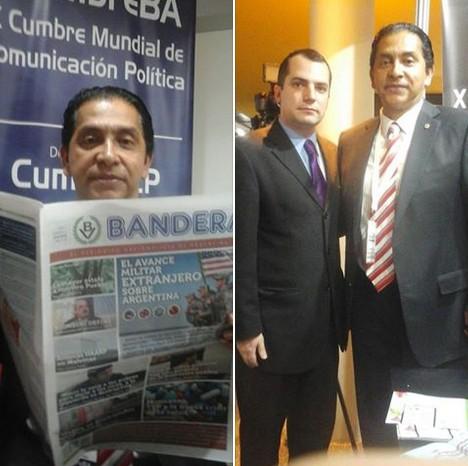 Encuentro del peri�dico Bandera con el ex Presidente de Ecuador, Coronel Lucio Guti�rrez