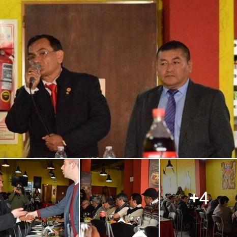 Peri�dico Bandera en la presentaci�n del Dr. Quito, pre-candidato presidencial del Per�