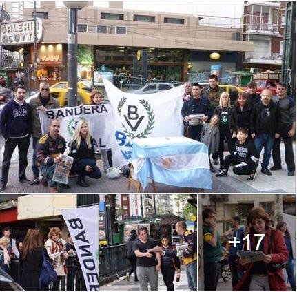Domingo militante: Gran operativo de difusión de Bandera Vecinal en Capital