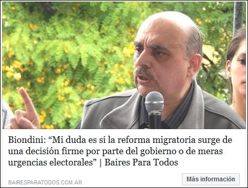 (Reportaje) Contundentes definiciones de Biondini sobre política migratoria, Donald Trump y el Nacionalismo en las elecciones 2017