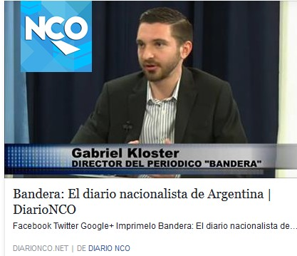 El director del periódico Bandera, Gabriel Kloster, entrevistado por el Diario NCO