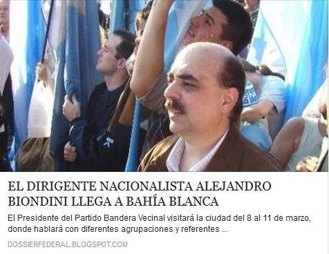 """Ver nota: """"El dirigente nacionalista Alejandro Biondini llega a Bahía Blanca"""""""