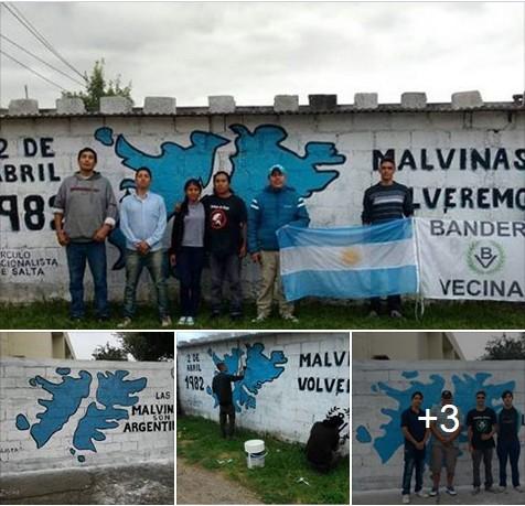 Nuevo murales malvineros en la ciudad de Salta