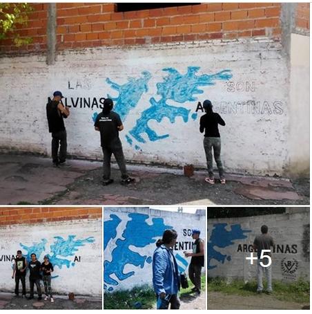 BV Salta: Murales malvineros en la capital provincial