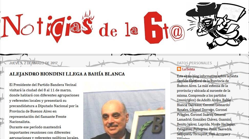 """(Noticias de la Sexta) """"Alejandro Biondini llega a Bahía Blanca"""""""