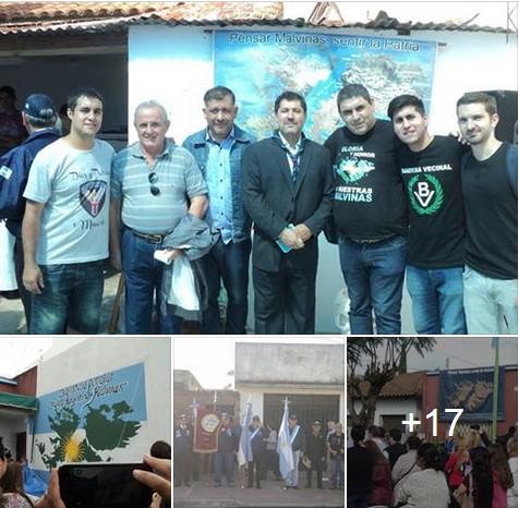 """General Rodríguez: Delegación partidaria asistió a inauguración de la Biblioteca Popular """"Puerto Argentino - Malvinas"""""""