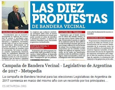 Metapedia abre una entrada especial sobre campaña de BV para Elecciones 2017