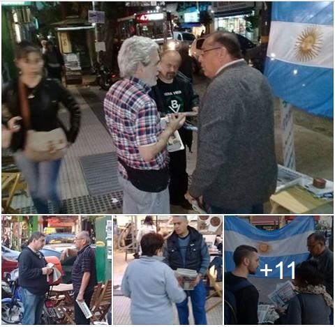 Ver fotos: Mesa de difusión de BV en el barrio de Villa del Parque