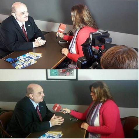Biondini entrevistado por el Canal 2 Cablevisión de Chivilcoy