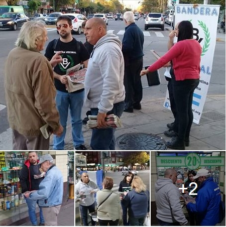Ver fotos: Mesa de Bandera Vecinal en el barrio de Mataderos