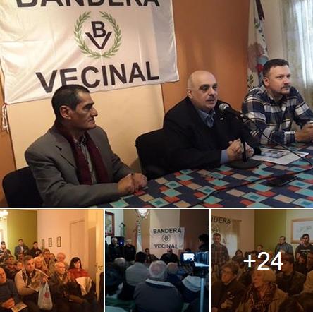 Biondini encabezó asamblea nacionalista en el Centro de Veteranos de Malvinas de San Martín