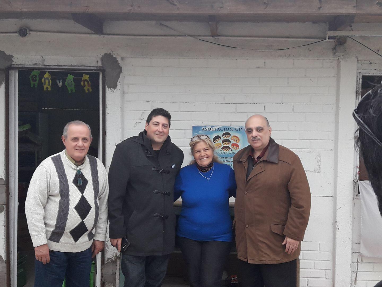 """Visita de Biondini y Marazzi a la Asociación Civil """"Las Caritas del Tuyú"""""""