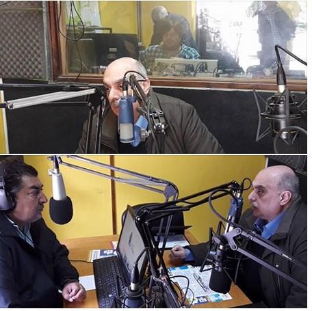 Biondini llegó a la ciudad de Baradero y fue entrevistado por FM Tiempo 105.3