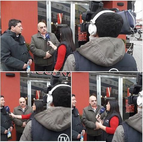 Biondini y Marazzi entrevistados por el Canal 2 de Santa Teresita