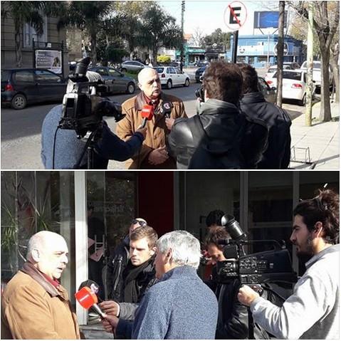 La TV de Campana cubrió la visita de Alejandro Biondini a la ciudad