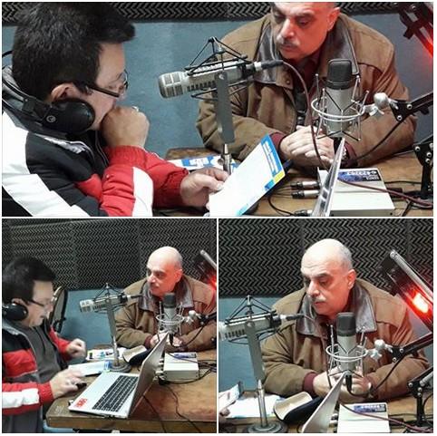 Comenzó la visita de Biondini a la ciudad de Campana con entrevista en FM Simple 97.3