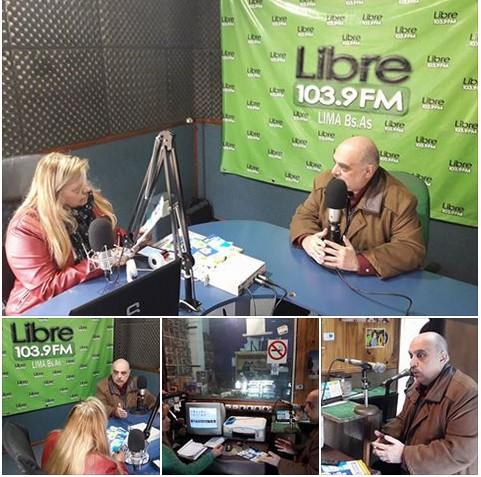 Nuestro Líder en FM 104.3 de Campana y FM Libre 103.9 de la ciudad de Lima, Zárate