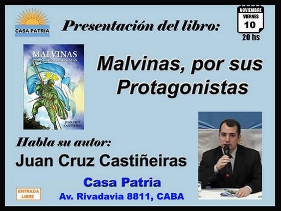 """[10 Nov] Presentación del libro: """"Malvinas, por sus Protagonistas"""""""