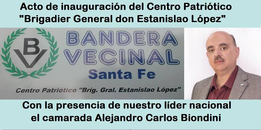 Santa Fe: Biondini hablará en inauguración de sede central del Partido en la provincia