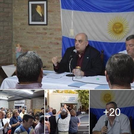 (Ver fotos) En gran acto se inauguró la sede central de Bandera Vecinal Santa Fe