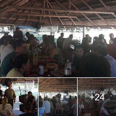 Domingo Nacionalista: Biondini con trabajadores rurales de General Pinto