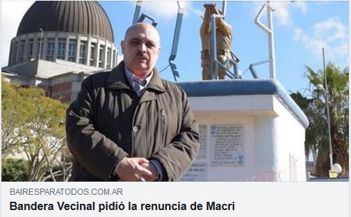 """[Baires para Todos] """"Bandera Vecinal pidió la renuncia de Macri"""""""