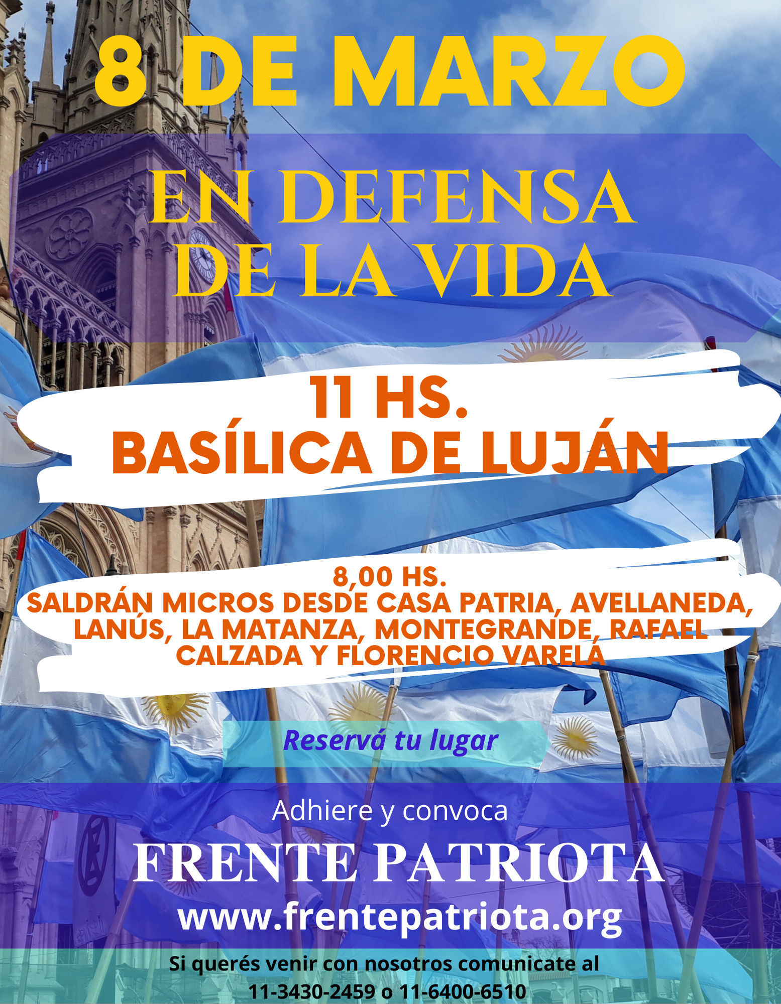 8M: Misa por la Vida en Luján