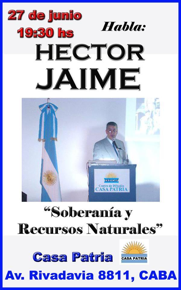 Conferencia Héctor Jaime - Conferencia en Casa Patria