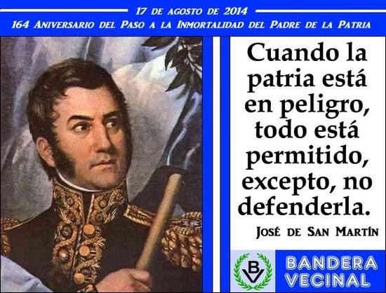 Homenaje al 164 Aniversario del Paso a la Inmortalidad del Gral. San Martín
