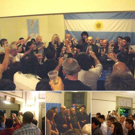 Por el triunfo, Bandera Vecinal brindó en Casa Patria