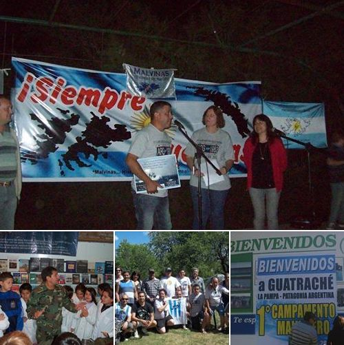 La Pampa: Bandera Vecinal en el Campamento Malvinero de Guatraché